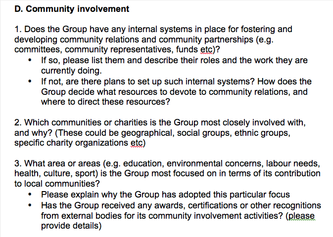 Examples Of Community Involvement Activities